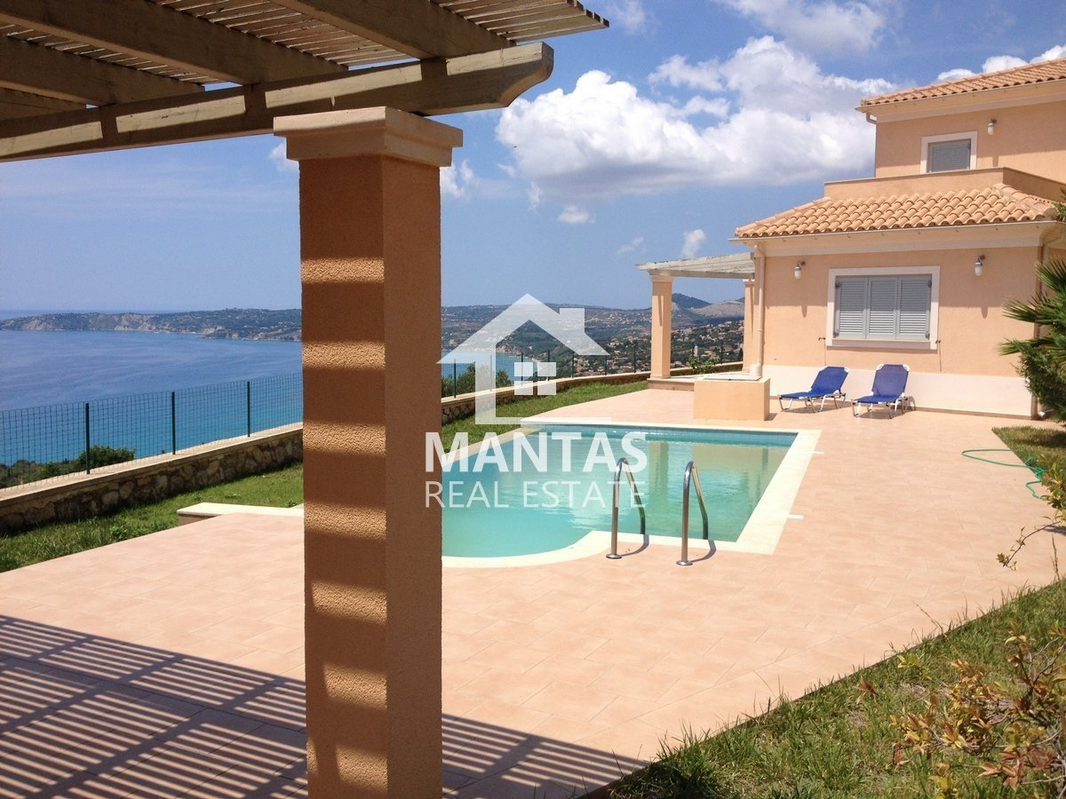 Luxury 3 bedroom fully furnished villa with pool and extensive sea views, for sale in Simotata - 330.000€(code Μ-103)